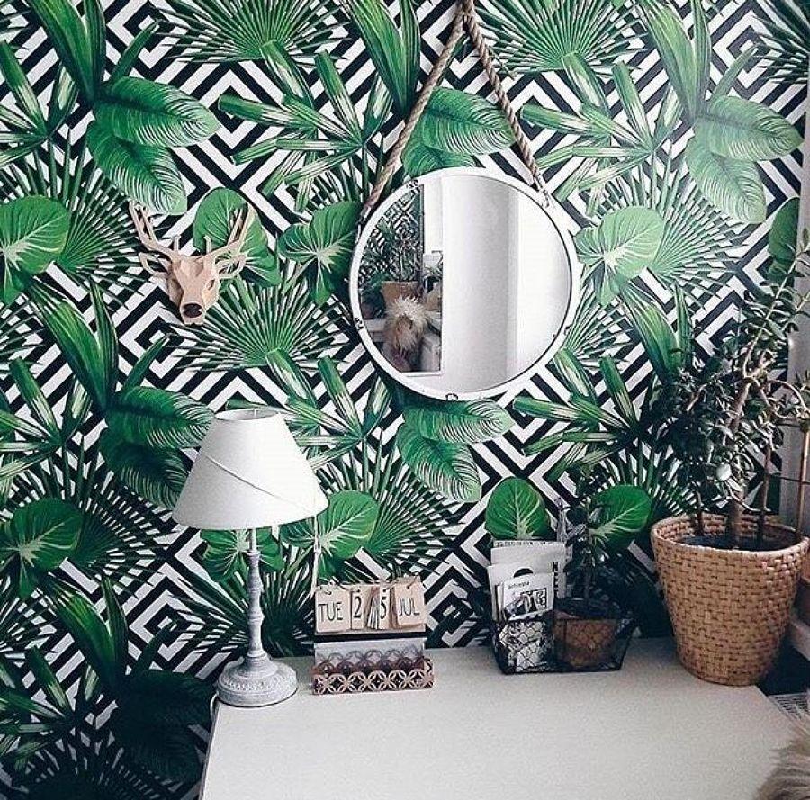 papel mural tropical