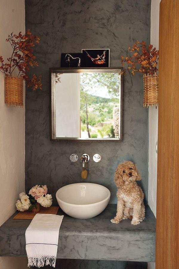 Muro baño microcemento