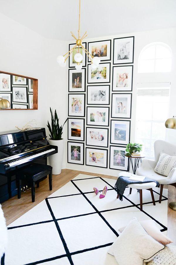 Muro con fotografias