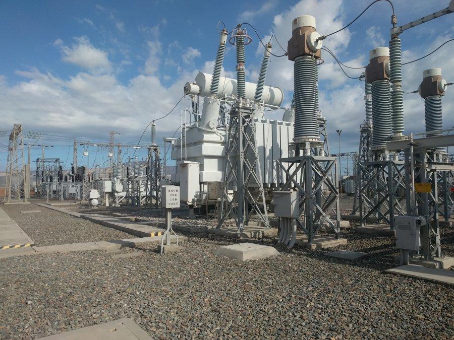 Patio 220KV en Subestacion eléctrica