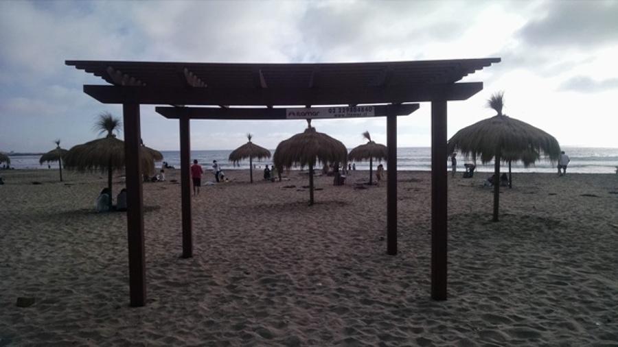 pèrgola ideal para la playa