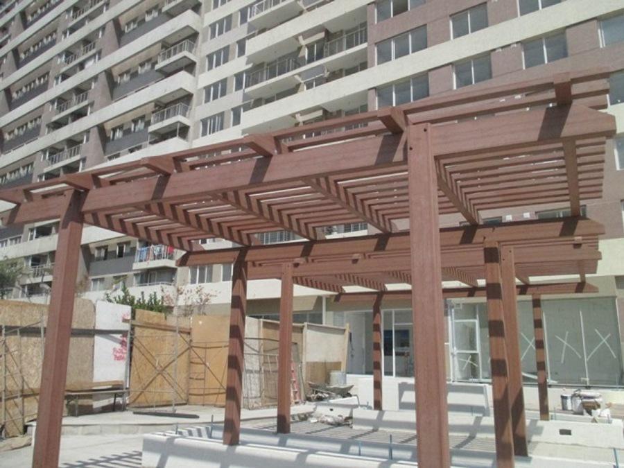 Edificio espacio 3 pergola wpc ideas remodelaci n edificio - Pergolas prefabricadas ...