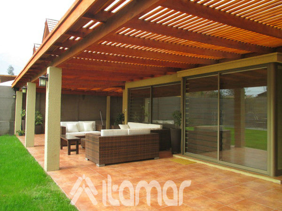 Cobertizo con pilares de concreto ideas remodelaci n casa for Casas con cobertizos
