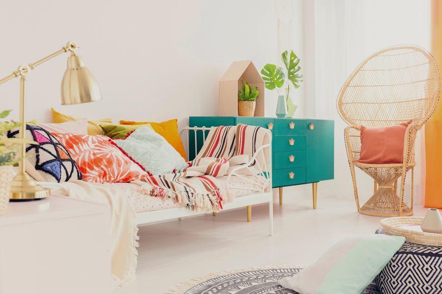 pintar mueble verde
