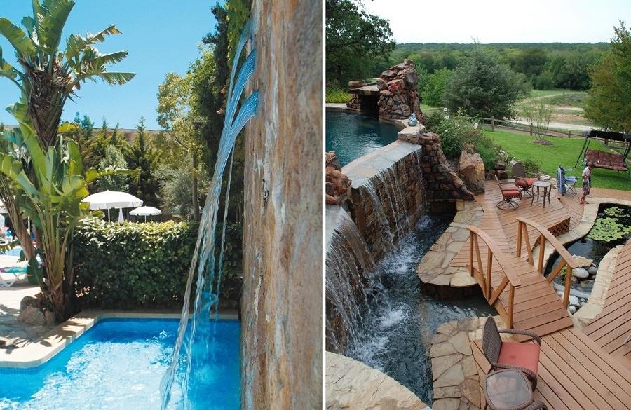 cascadas piscina