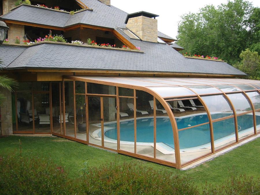 Foto piscina temperada 176158 habitissimo for Cubiertas de lona para piscinas