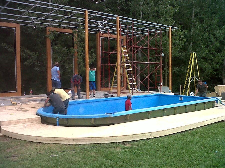 Foto piscina de reality mundos opuestos de canal 13 de for Piscina de canal