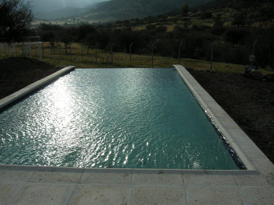 Foto piscina residencial de constructora donoso y for Construccion de piscinas en santiago