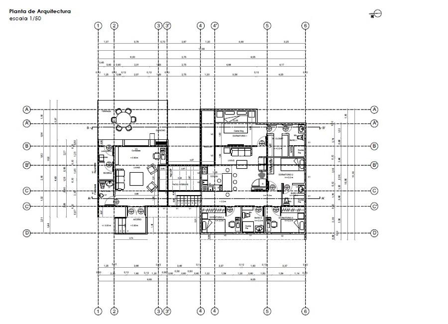 Foto plano arquitectura de ca asurrutia arquitecto for Medidas en arquitectura pdf