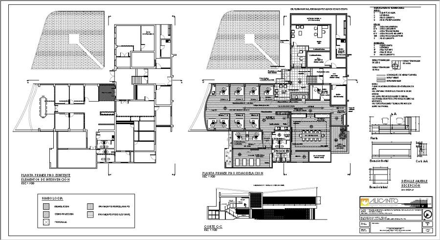 Foto plano de arquitectura primer piso de alicanto for Planos de arquitectura