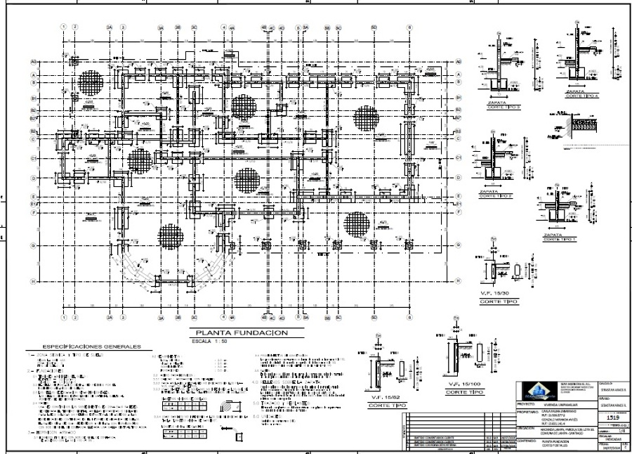 Proyecto de calculo casa 367 m2 ideas ingenieros for Planos ingenieria civil