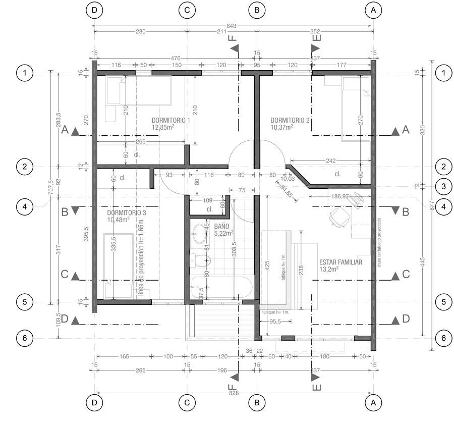 Foto planta arquitectura 2 nivel de diego alvarez for Plantas de arquitectura