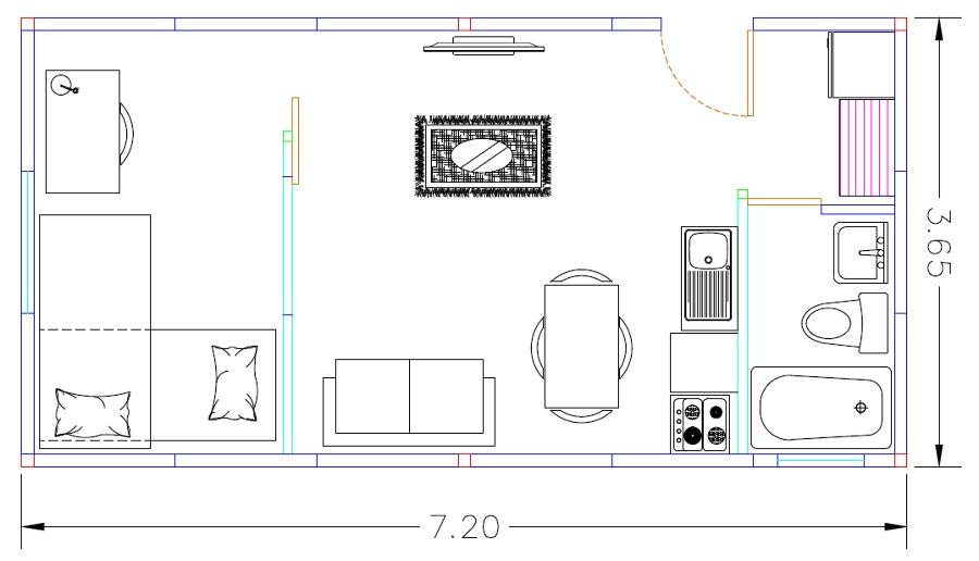 Planta casa 26,2 m2