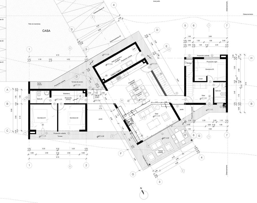 Planta de arquitectura primer nivel