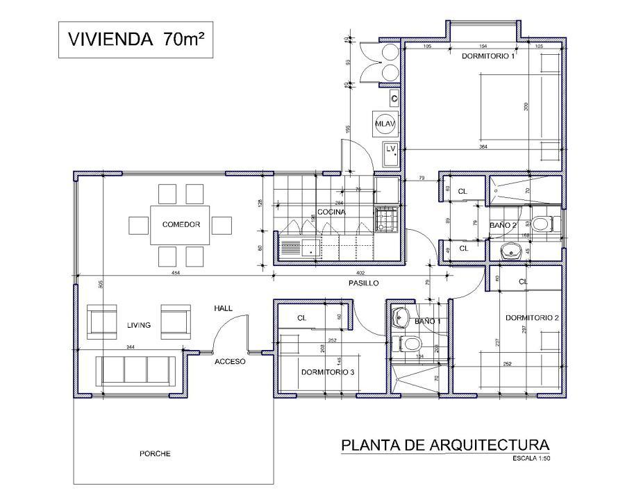 Planta de Arquitectura