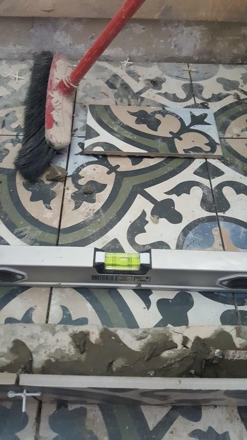 Porcelanato de piso mosaico