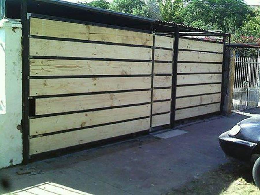 Porton doble corredera ideas materiales de construcci n for Como hacer un porton de madera economico