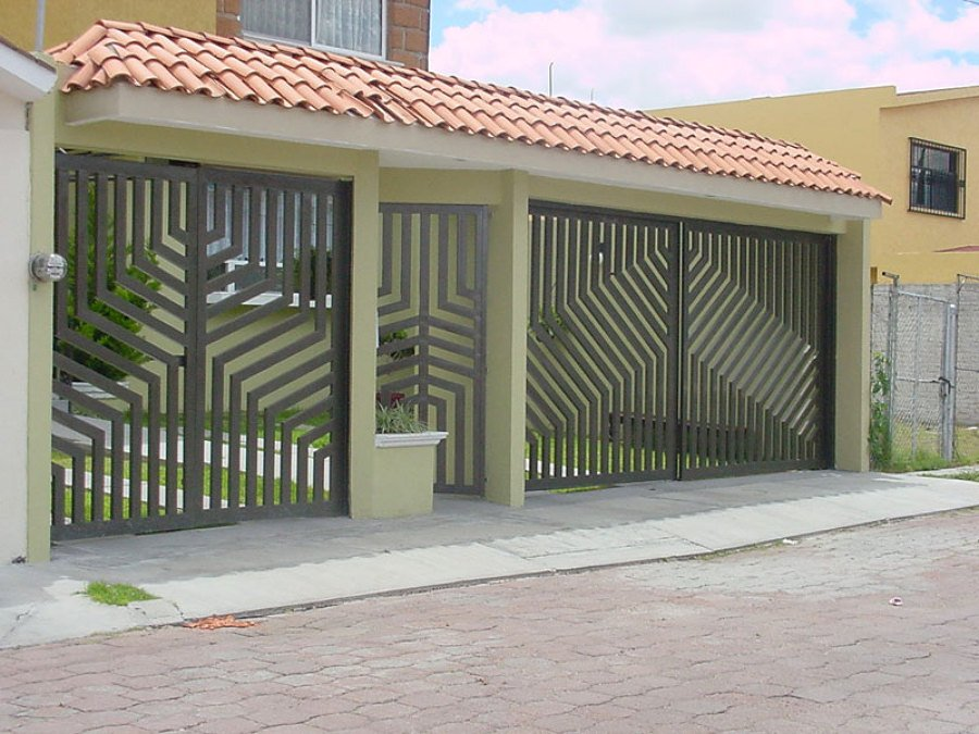 Construccion de portones corredizos ideas carpinter a for Puertas de metal con diseno