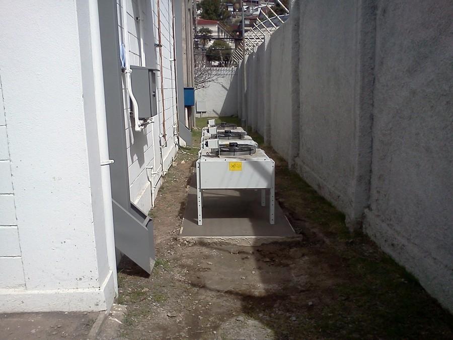 Posicionamiento Condensadores Sala M8, Planta Movistar Chorrillos, Viña del Mar