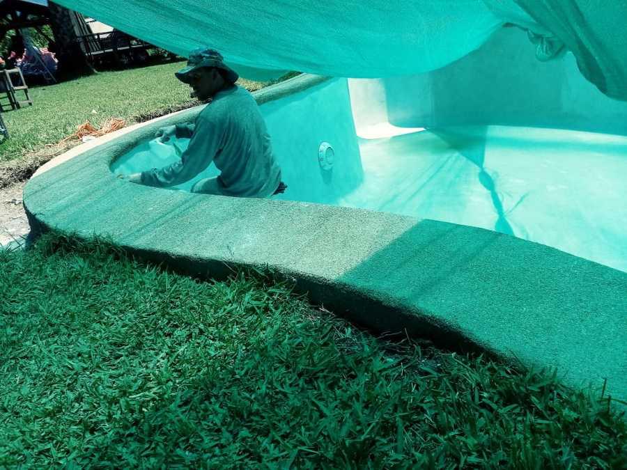 Preparación para el llenado de piscina