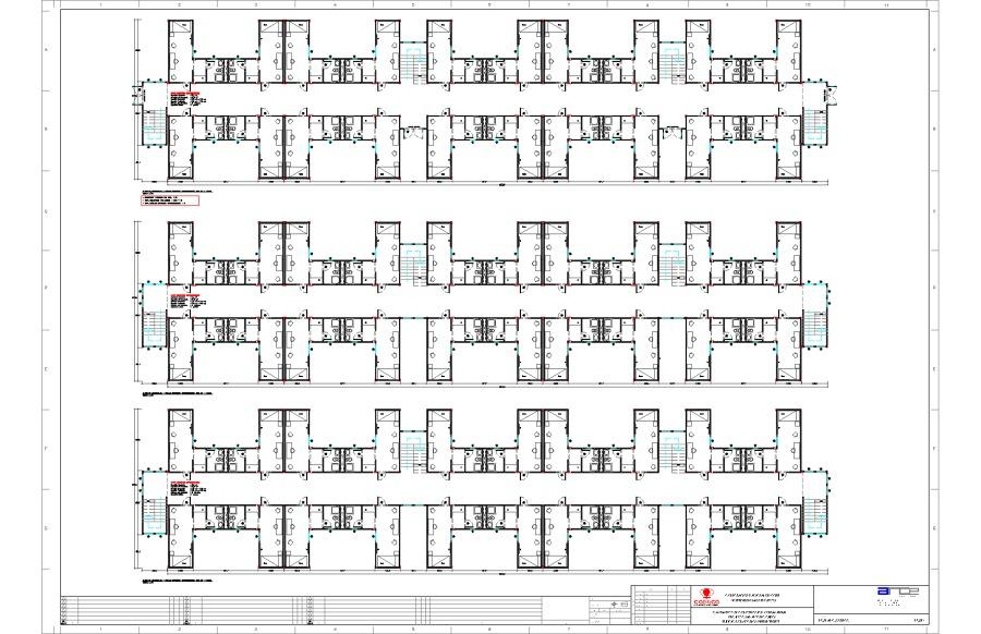 Edificio Modular Container - Pabellón Habitacional - PSAO Codelco.