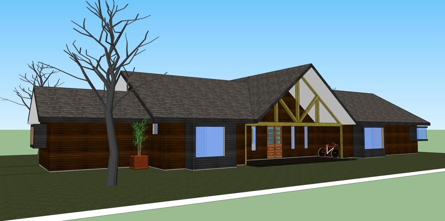 Proyecto de casa cerro negro ideas arquitectos for Casas ideas y proyectos