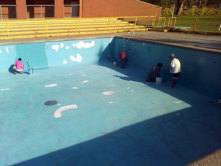 Foto proyecto de reparaci n de mantencion pintado y for Pintado de piscinas