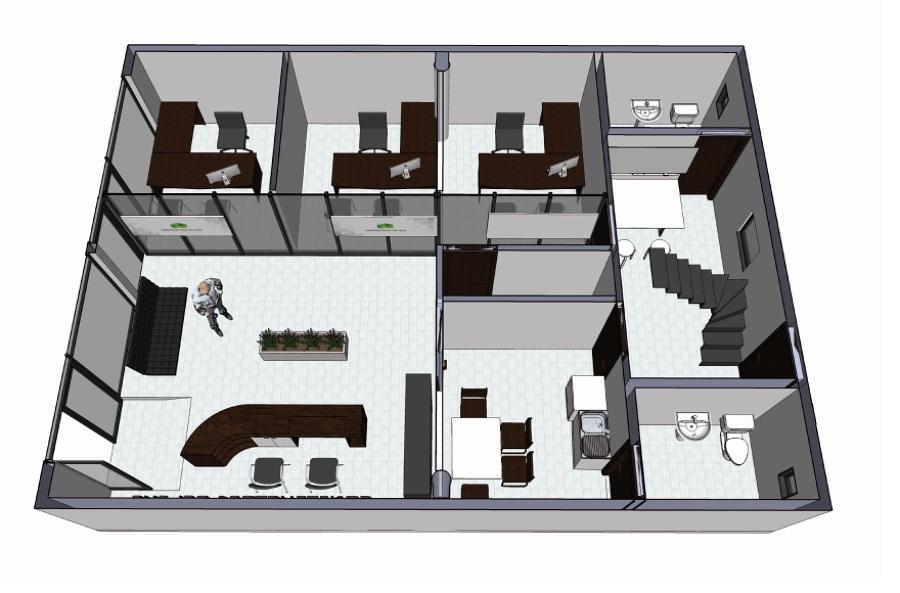 Proyecto remodelaci n oficinas constructora del sur for Proyecto oficina