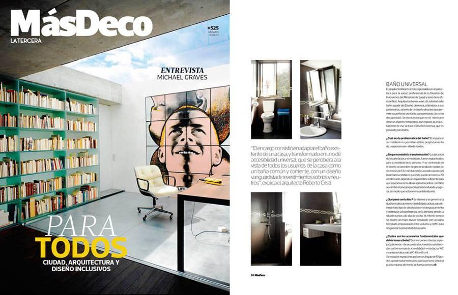 Publicación sobre el diseño en revista Mas Deco