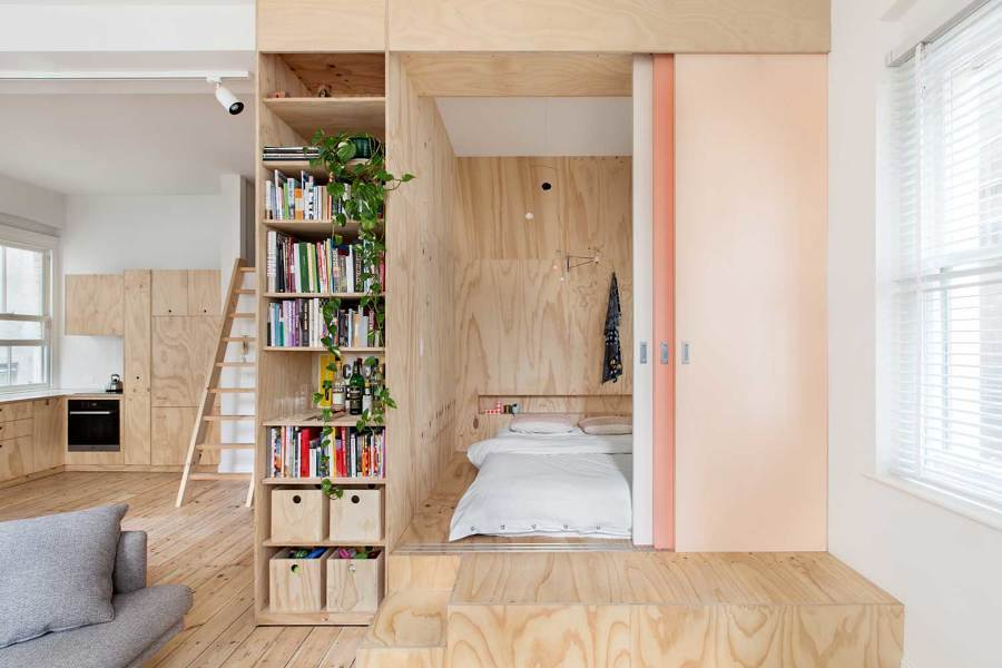 puerta corredera en madera