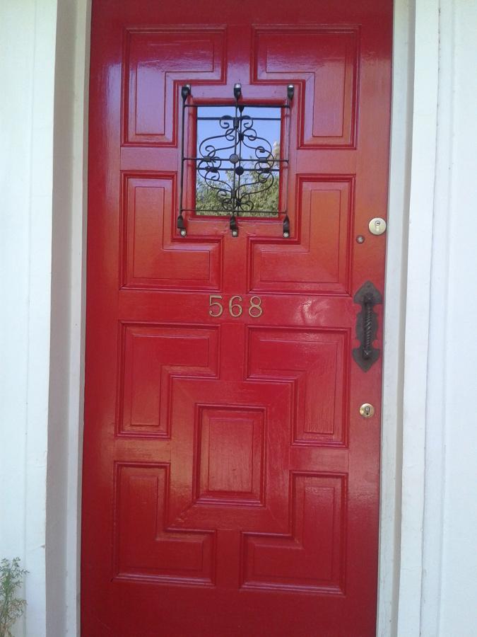 puerta esmalte rojo ideas pintores