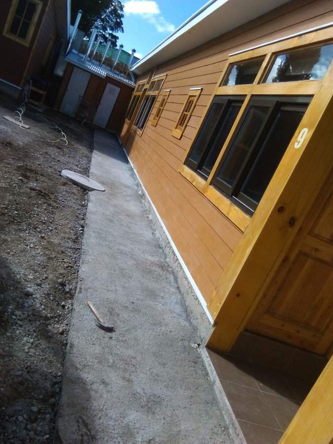 radier, Hormigón, cemento