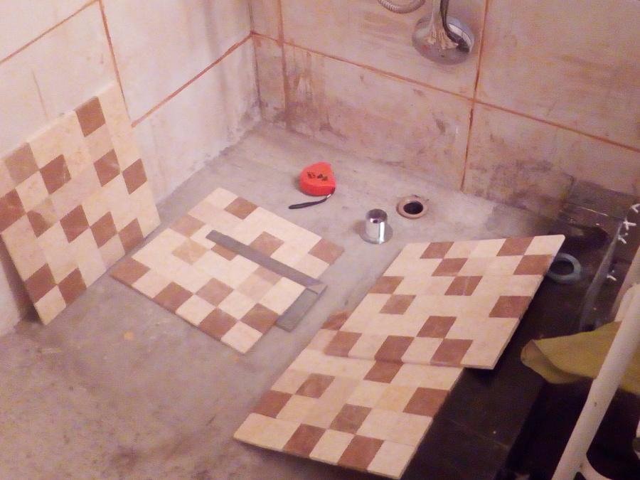 receptáculo listo para instalar mosaicos