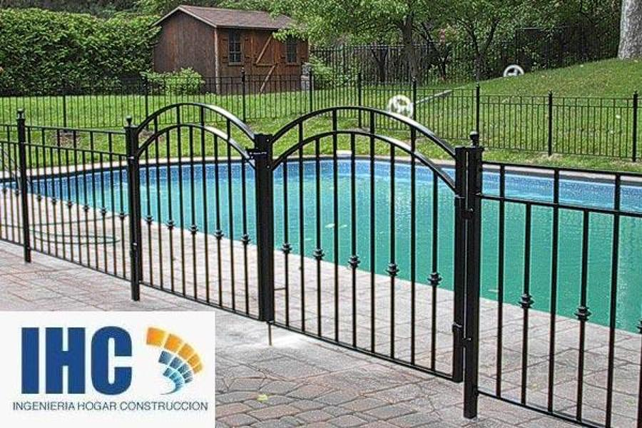 Rejas cierres perimetrales piscinas y portones entrada for Modelos de portones de hierro