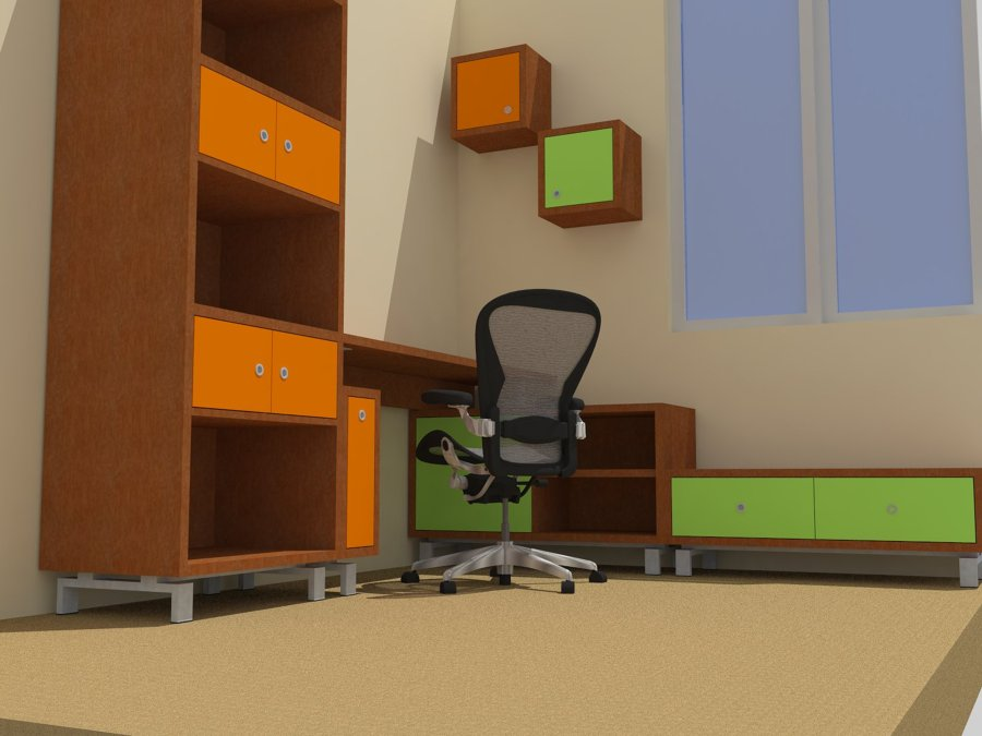 Proyecto home office fabiola jerez ideas carpinteros for Muebles de oficina jerez
