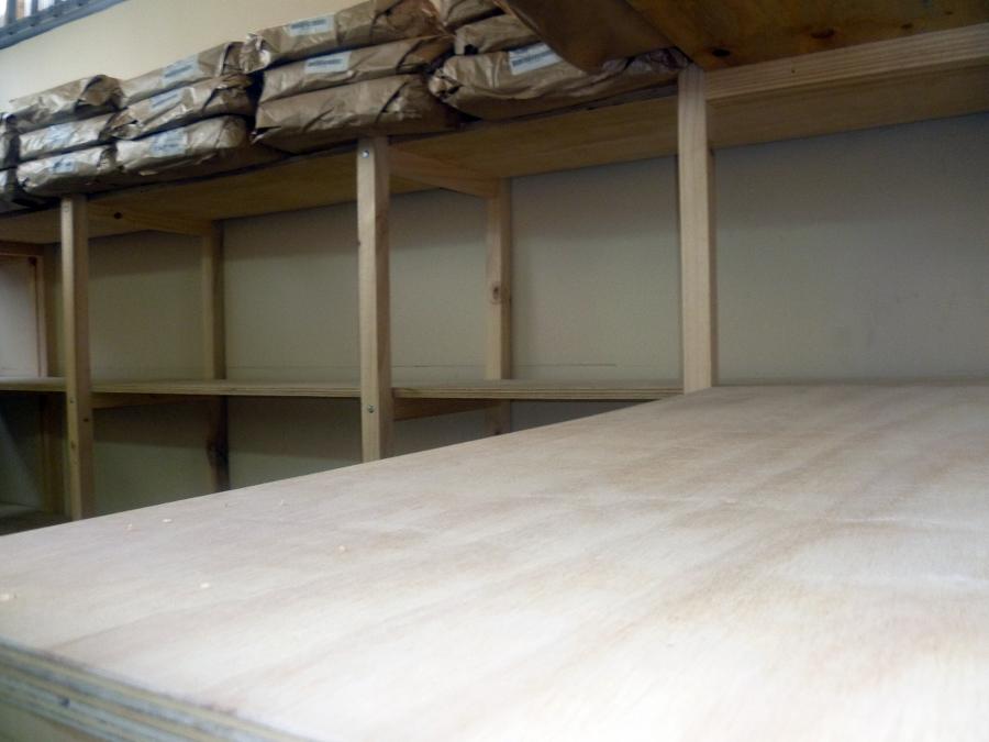 Estantes para bodegas good mueble flotante p bodega con - Estantes para bodegas ...