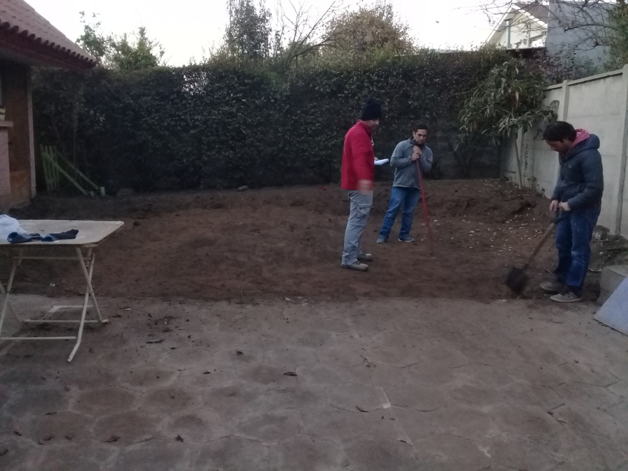 Replanteó del Area a Construir