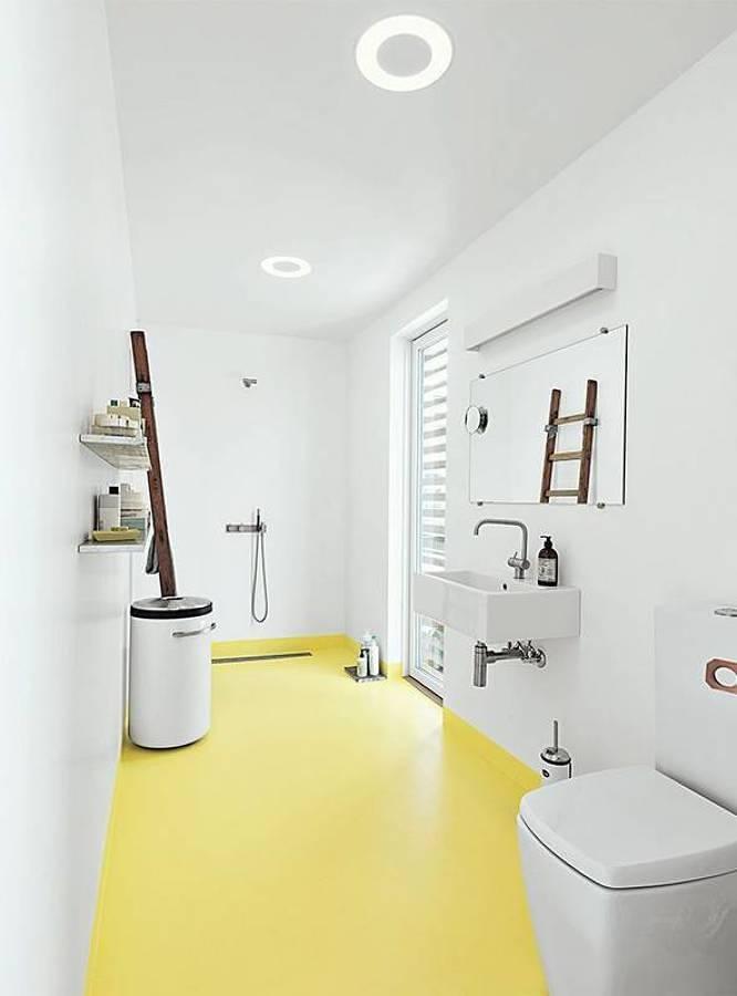 Baño con pintura epóxica