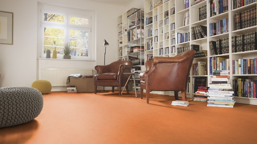 Living con piso de linóleo