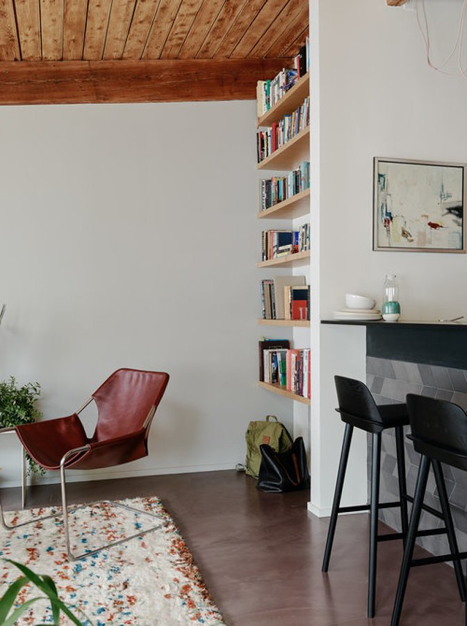 Living con mobiliario integado
