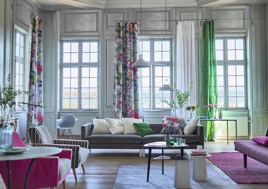 Living con motivos florales