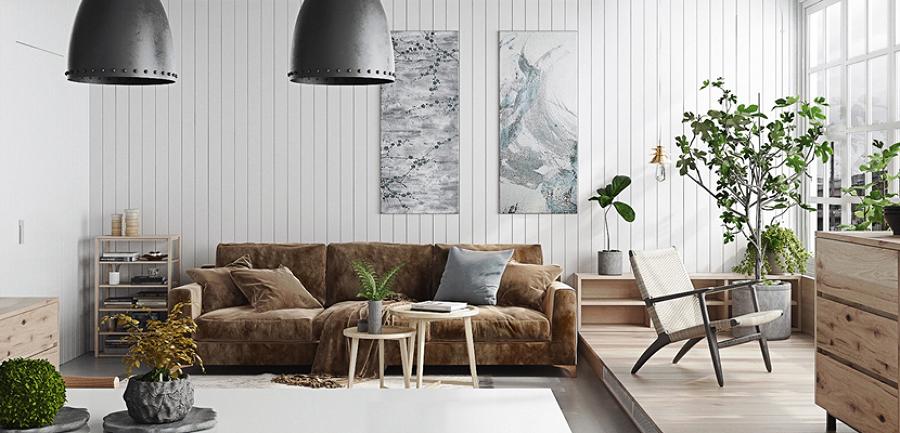 Foto living con plantas 195997 habitissimo for Plantas salon decoracion