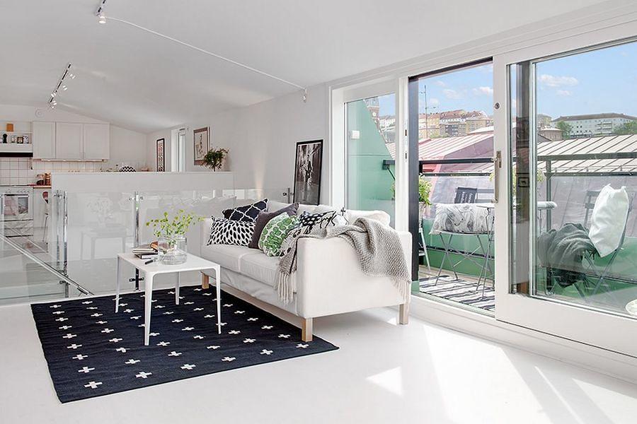 Living con piso epoxi