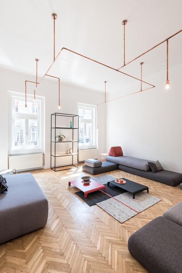 Living diáfano estilo minimalista