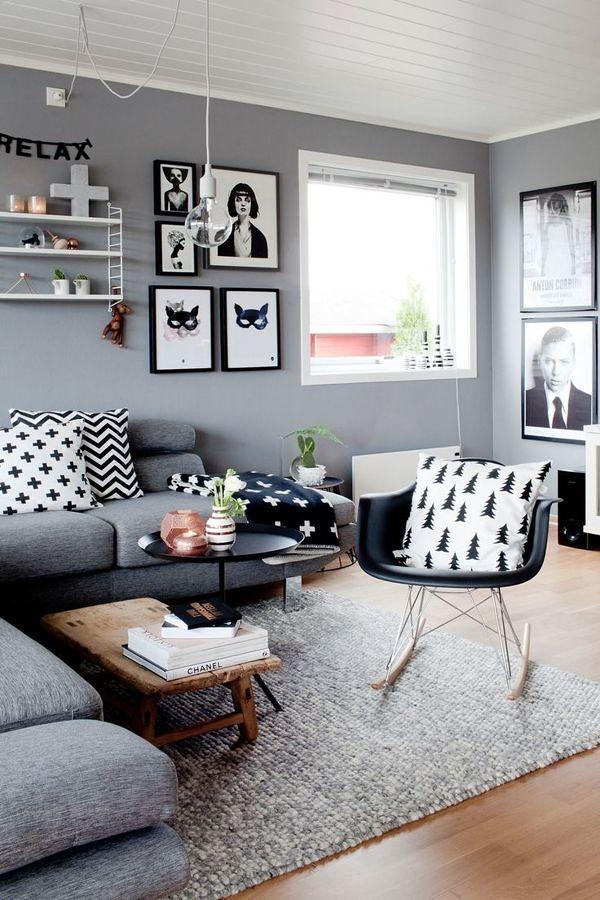 Foto living en gris y blanco 210574 habitissimo for Corredor deco blanco y gris