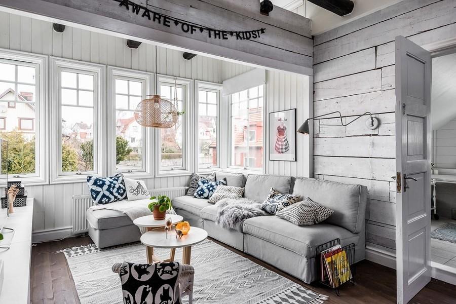 Living estilo nórdico