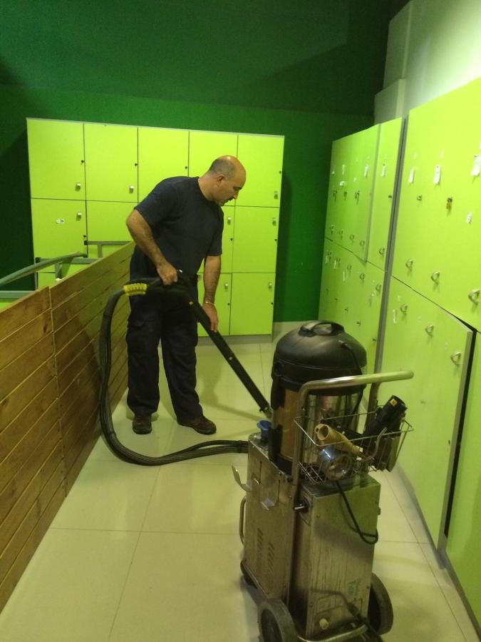 Sanitizado el piso a 184ºC