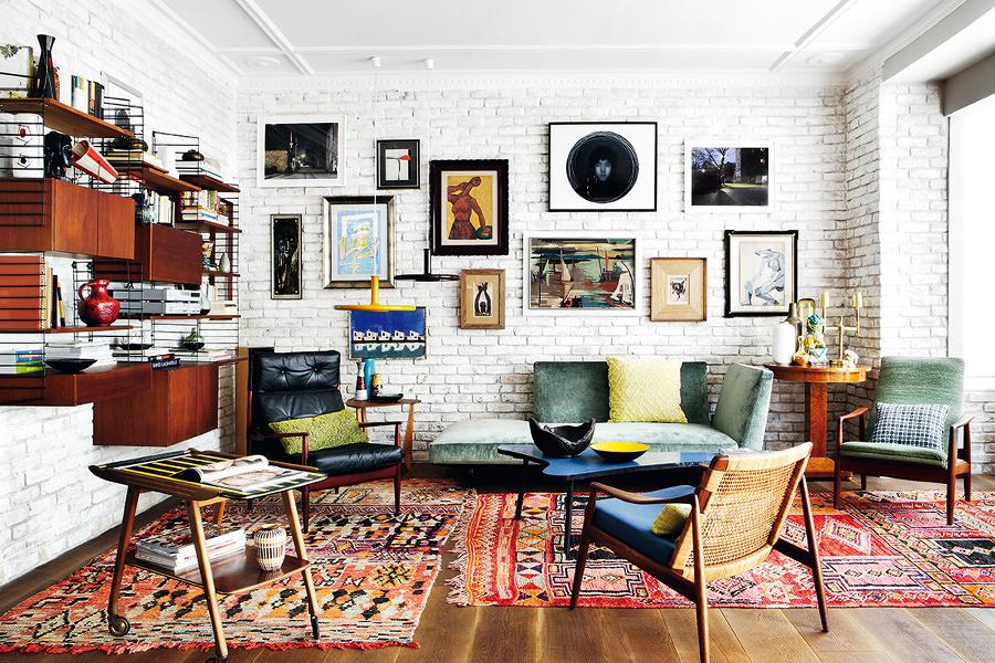 Living con muebles reciclados