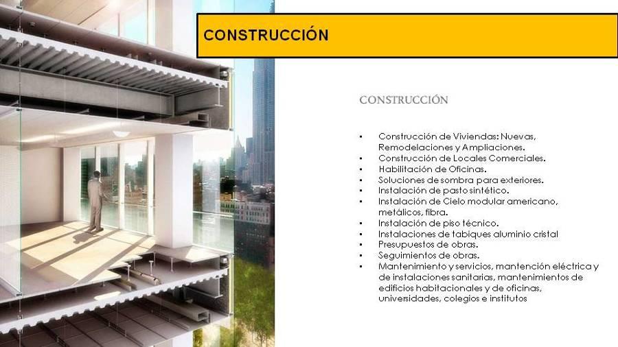 Nuestros servicios ideas arquitectos for Servicios de construccion