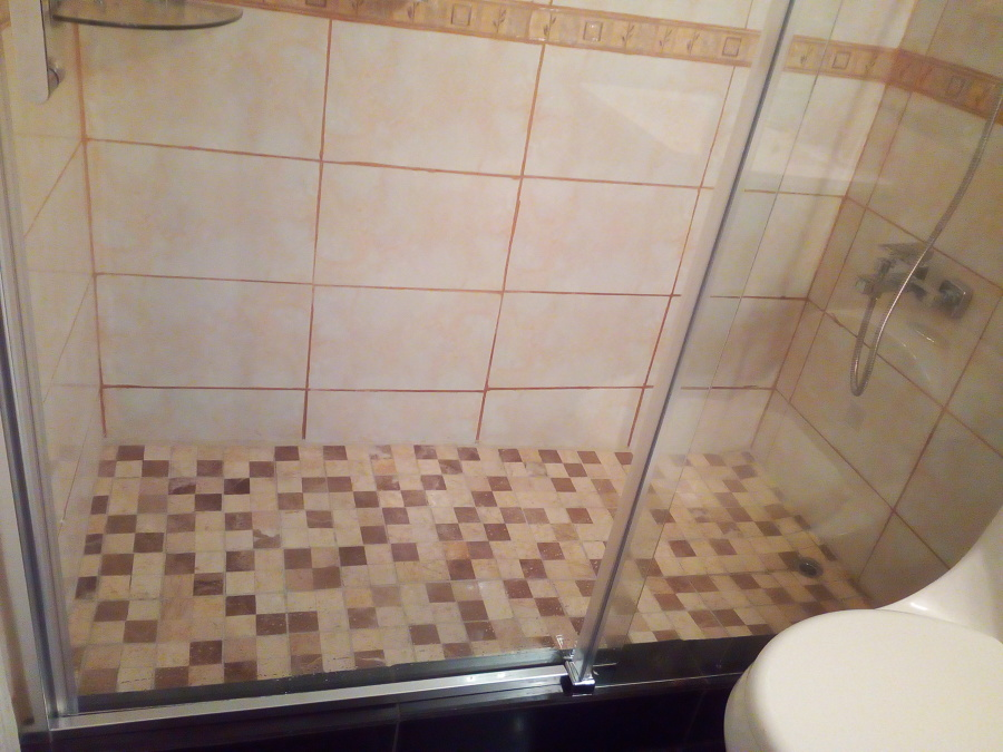 shower terminado con mampara